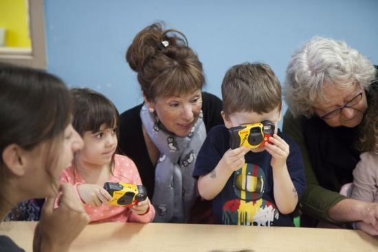 activité artistique avec enfant